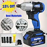 <span class='highlight'><span class='highlight'>Xinng</span></span> 18V Electric Impact Wrench Drive Cordless 6000mAh Rechargeable Lithium-Ion Battery 4 Sockets Stepless Speed 420Nm Nut Gun Wheel Rattle UK Stock 5 Year Warranty