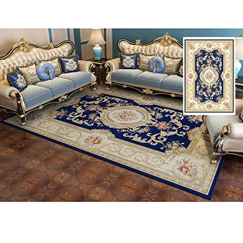 CJW Hauptschlafzimmerteppich Teppichboden im amerikanischen Stil Teetischteppich Wohnzimmer-Teppich im europäischen Stil Nordic (Color : D, Größe : 2.6'X5.2')