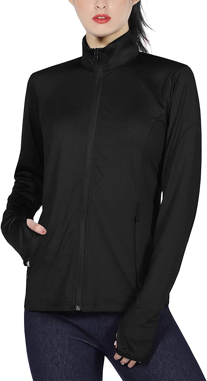 DISHANG Women's Los Angeles Mall Slim Fit Lightweight Yoga Fu Workout Jacket New Orleans Mall