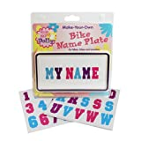 make your own license plate - Ride Along Dolly Kid's Bicycle Customizable License Plate Make Your Own Bike Name Plate - Includes Over 150 Letter and Number Stickers