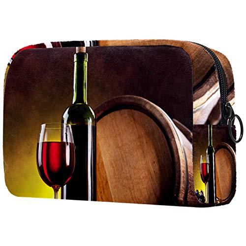 Bolsa cosmética para mujer, botella de vino, bolsas de maquillaje, accesorios organizadores regalos