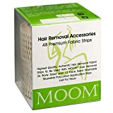 MOOM Polycotton Waxing Strips for Women, Hair Removal Strips Specially Engineered for Maximum Hair Removal – Perfect for Bikini, Leg, Eyebrow, Body & Face Wax (48 Count) (1 PACK)
