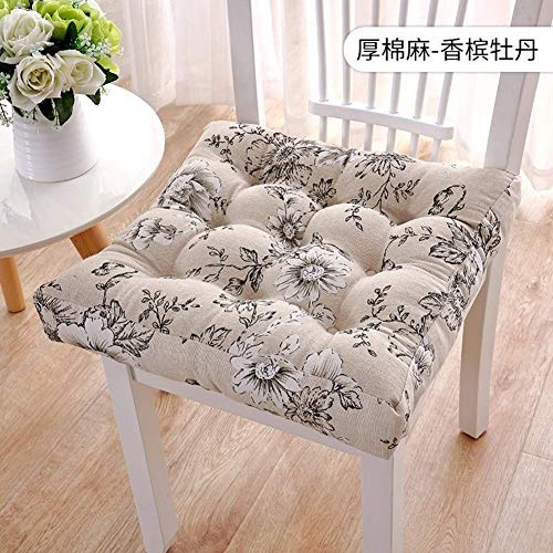 ZZTX Solid Square Seat Cushion,soft Thicken Plush Durable Chair Cushion For Floor Pillow Indoor Tatami Cushion-a 50x50cm
