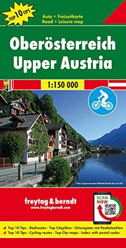 Oberösterreich, Autokarte 1:150.000, Top 10 Tips mit Radrouten (freytag & berndt Auto + Freizeitkarten)