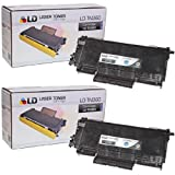 LD Compatible Toner Cartridge Replacement for Brother TN-360 High Yield (Black, 2-Pack)