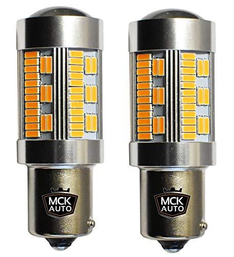 MCK Auto - Remplacement pour Set d'ampoules orange PY21W LED CanBus très clair et sans erreur compatible avec A3 A4 F30 F31