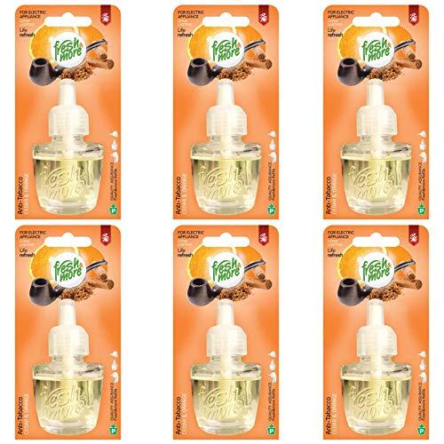 6x Fresh&More Nachfüllflakons Anti Tabak - Cedar&Orange Für E-Duftstecker, 19ml