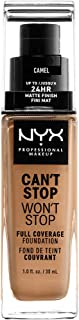 NYX PROFESSIONAL MAKEUP Can't Stop Won't Stop Full Coverage Foundation, Camel 12.5