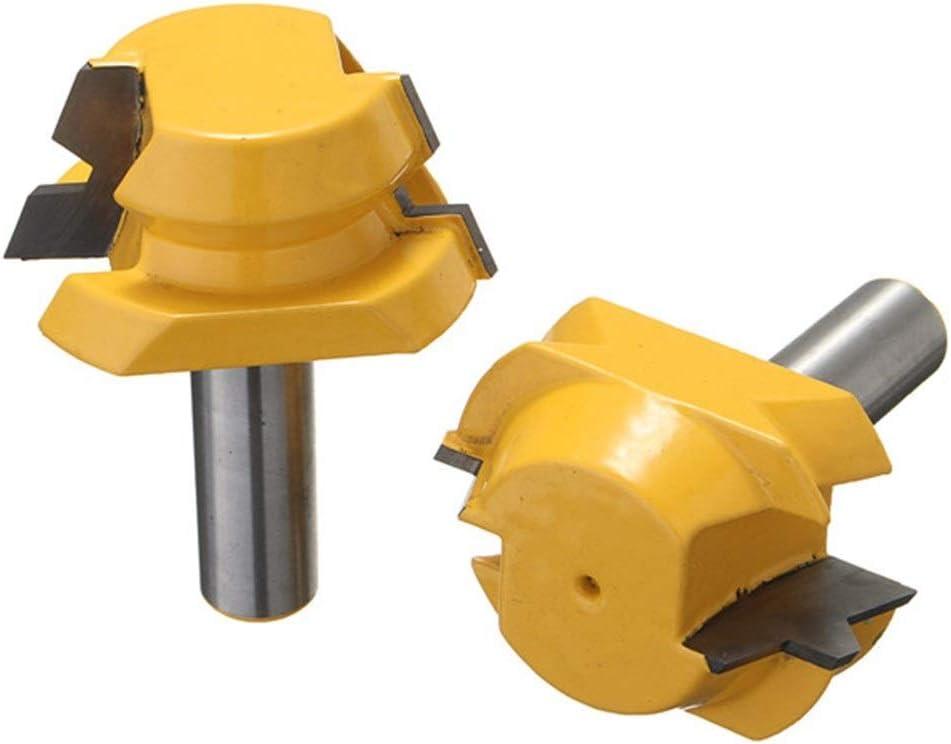 WEWINMON LHS Drill 2pcs Gifts 22.5 Degree Lock Router Miter Set Minneapolis Mall L Bits