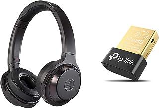 audio-technica SOLID BASS ワイヤレスヘッドホン 重低音 最大70時間再生 ブラック ATH-WS330BT BK & TP-Link Bluetooth USBアダプタ ブルートゥース子機 PC用/ナノサイズ / Ve...