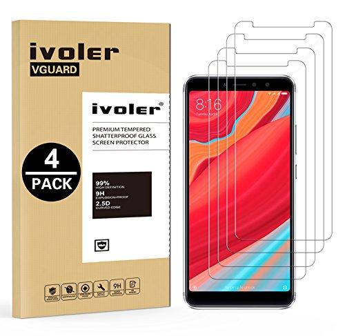 ivoler [4 Unidades] Protector de Pantalla para Xiaomi Redmi S2, Cristal Vidrio Templado Premium