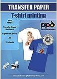 PPD A4 x 70 Hojas de Papel de Transferencia Térmica Para Camisetas, Mascarillas y Tejidos Mixtos, ¡Paquete Mezclado! (50 hh. Telas Claras y 20 hh. Telas Oscuras) Para Impresora de Inyección de Tinta Inkjet - PPD-5-MIX