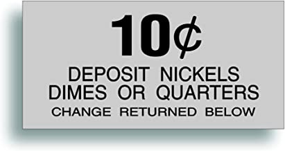 Solar Graphics USA Restoration Decal - for Vintage Soda Pop Soft Drink Vending Coin Change Slot Compatible with Dixie Narco Pepsi Coca Cola Machine - 10 Cent - 2.188 x 4.5 Inch