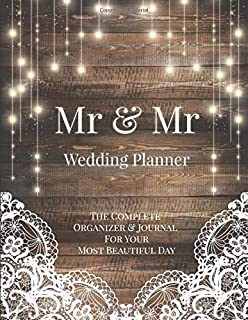 Sponsored Ad - Mr & Mr Wedding Planner - The Complete Organizer & Journal For Your Most Beautiful Day: Everything For Your...