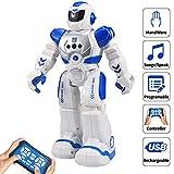 LUSHUN Robot Juguete ProgramaciónInteligente Gestos Control Robots Recargable Multifuncionales Robot de Radiocontrol, Caminar, Control Remoto, Bailar, Cantar, Leer Historias