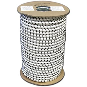 Zoolynaa White 200-Yards Length 1//8 Width Braided Elastic Cord//Elastic Band//Elastic Rope//Bungee//White Heavy Stretch Knit Elastic Spool