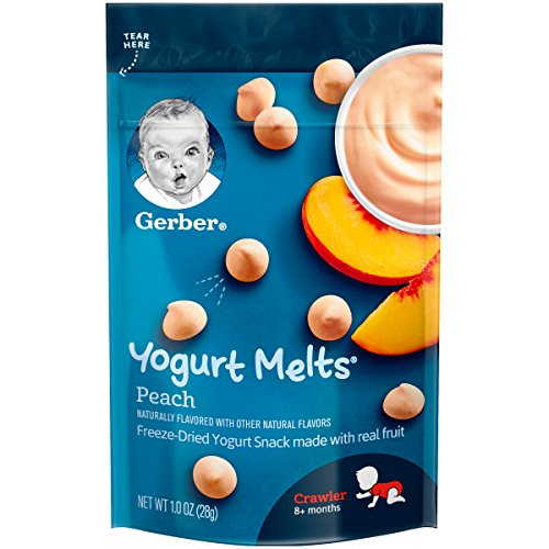 Gerber Yogurt Melts Freeze-Dried Yogurt Snack, Peach, 1 Ounce (Pack of 7)