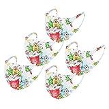 Rabbiter Kinder Weihnachts Mundschutz Stoff Cartoon Print Gesichtsabdeckung Tierdruck atmungsaktiver Baumwollstoff Waschbarer Mund- und Nasenschutz Bandana Halstuch Jungen Mädchen