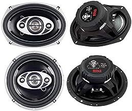 "Boss P694C 6x9"" 800W + 2) Boss P654C 6.5"" 400W 4-Way Car Coaxial Speakers photo"