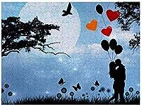 NEW I Love You soMuchパズル1000ピース木製アダルトジグソーパズルカラー抽象絵画パズル子供向け教育玩具ギフト