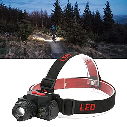 Meiyya Linterna Frontal LED, lámpara de Cabeza para Camping, Rango de luz Ajustable ABS para Trotar para Leer para Caminar para Correr para Andar en Bicicleta para Acampar para Pescar