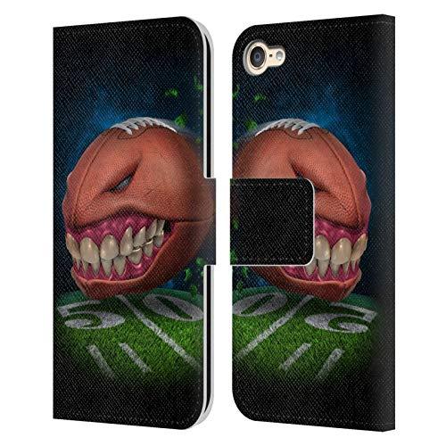 Head Case Designs Oficial Tom Wood Fútbol Monstruos Carcasa de Cuero Tipo Libro Compatible con Apple Touch 6th Gen/Touch 7th Gen