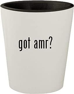 got amr? - White Outer & Black Inner Ceramic 1.5oz Shot Glass