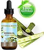 Botanical Beauty Moringa Oil . 100% Pure / Natural / Undiluted Cold Pressed Carrier Oil. 1 Fl.oz.- 30 ml. For Skin, Hair, Lip And Nail Care. 'Moringa Oil Is A Nutrient Dense, High In Palmitoleic, Oleic And Linoleic Acids, Moisturizing Fatty Acids And Vitamins A, C And E.'