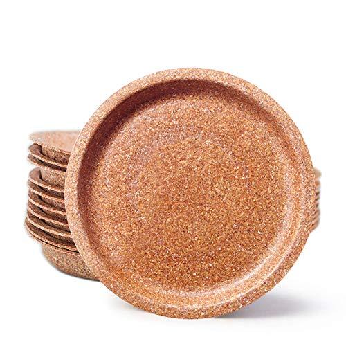 ECOMOLI Einweggeschirr aus Kleie – Teller mit einem Durchmesser von 24cm - 100 Stück Bio Einwegteller | Ofen- und Mikrowellengeeignet | Biologisch abbaubar | 100% Natürlich – Essbar | Made in EU