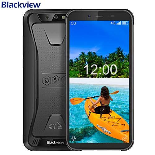 Blackview BV5500 PRO,SIMフリースマートフォン本体- Android 9.0,5.5インチ HD 全画面 18:9ディスプレイ,3GB RAM + 16GB ROM,IP68 防塵 防水 耐衝撃 アウトドア 携帯電話本体 デュアルSIM(Nano) MT6739V クアッドコア 8MP SONY リアデュアルカメラ,5MP フロントカメラ 顔認証 指紋認識 4400mAh大容量 GPS OTG NFC コンパス LED懐中電灯【一年保証】(黒) [並行輸入品]