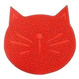 XKMY Tappetino per cani e gatti per animali domestici, tappetino per l'alimentazione del cane e del gatto, in PVC, per il cibo e il cibo, tappetino per gatti (colore: rosso)
