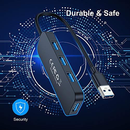 Beikell USB 3.0 Hub, 4 Port Ultra Slim USB Hub Datenhub Extra Leicht Super Speed für MacBook, MacBook Air/Pro/Mini, PS4, Surface Pro, Huawei MateBook, USB Flash Drives usw.