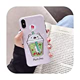 New Cartoon Milk Tea We Bare Bears Phone Case for iPhone 11 Pro X XS MAX XR 6 6s 7 8 Plus Fashion Cute IMD Cover,for iPhone 11,3