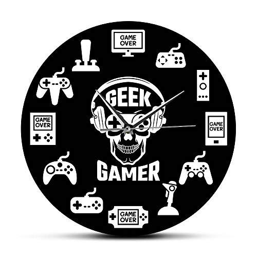 Wanduhr Spielzeit Videospiel Hängende Wanduhr Konsolen-Controller Spielzimmer Wandkunst Dekorative Wanduhr Geek Gamer Geschenkidee