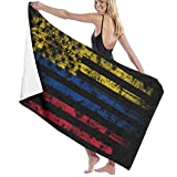 Hdadwy Toalla de baño, Bandera de Colombia y América Combo Toallas de Playa para Adultos, Lindas y Divertidas Toallas de baño para Adultos para decoración del hogar, 80x130cm