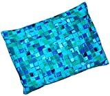 Microwavable Corn Filled Heating Pad and Cold Pack/Washable 100% Cotton Cover (7.5'Wx11'L, Blue Stream)