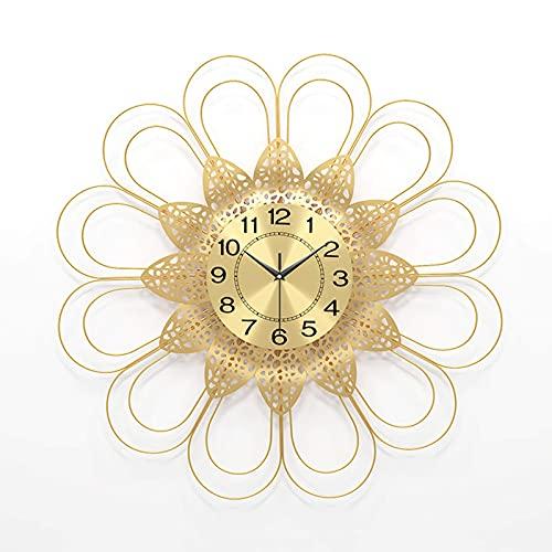 WSDDNXM Reloj de Pared silencioso con Pilas, Reloj Hueco, Decorativo de Pared para Cocina, Sala de Estar, Dormitorio, Bar, Regalo