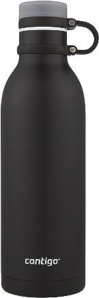 Contigo Botella de agua Matterhorn de 32 oz. Acero inoxidable. Color Negro mate