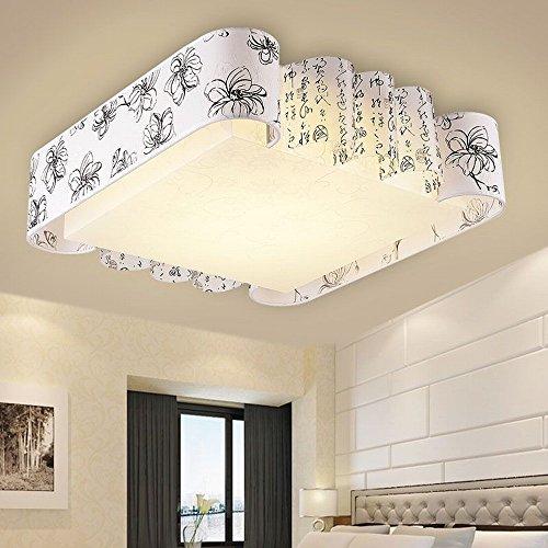 DBYY Moderne Chinois Plafond Lampe Salon Lumières Chaudes Chambre Lumières Restaurant Lumières LED Gradation Éclairage,B,500 * 500 * 140 (mm)