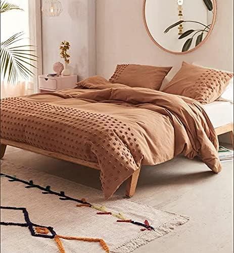 3 Piece 期間限定で特別価格 Tufted 信用 Cotton Duvet Cover Boho Set Queen King Bedding