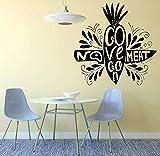adesivi murali adesivi no meat go vegan vegetariano ristorante cucina arredamento interni vinile carota arte murale creativa 57x57 cm