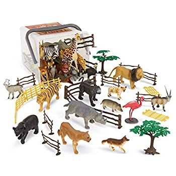 Terra by Battat – Jungle World – Assorted Miniature Jungle Animal Toy Figures For Kids 3+  60Pc