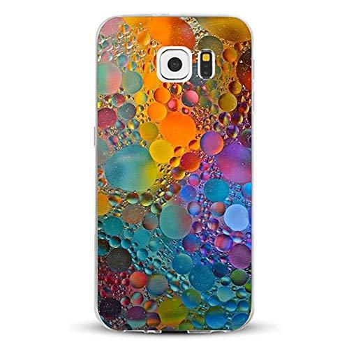 AIsoar Custodia per Galaxy S7 Cover Ultra Slim TPU Crystal Clear Morbido Copertura Case Cover Anti-Scratch AntiGraffio Silicone Protettivo Shell Cases Posteriore per Samsung Galaxy S7 (Marmo)