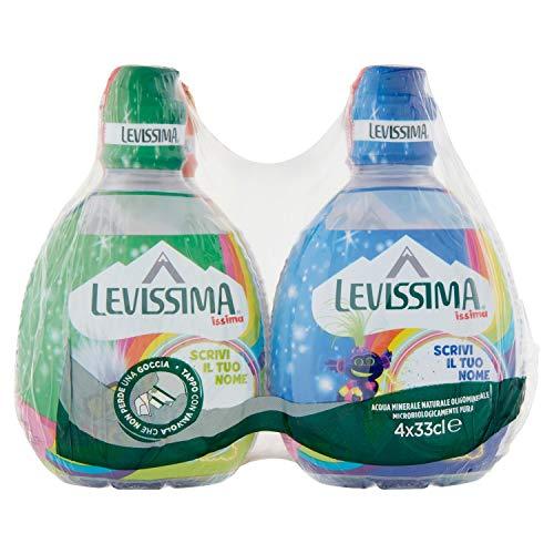 Levissima Acqua Minerale Naturale Oligominerale, 4 x 33cl