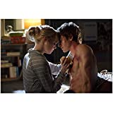Emma Stone 8 inch x10 inch PHOTOGRAPH The Amazing Spider-Man (2012) Taking Care of Shirtless Andrew Garfield kn