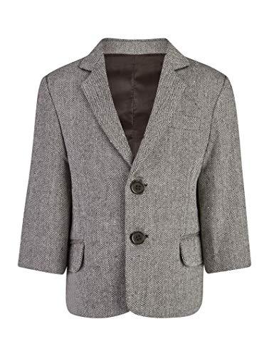 V.C. Tweed Jungen Sakko Blazer Kinder Anzug Jacke braun 116
