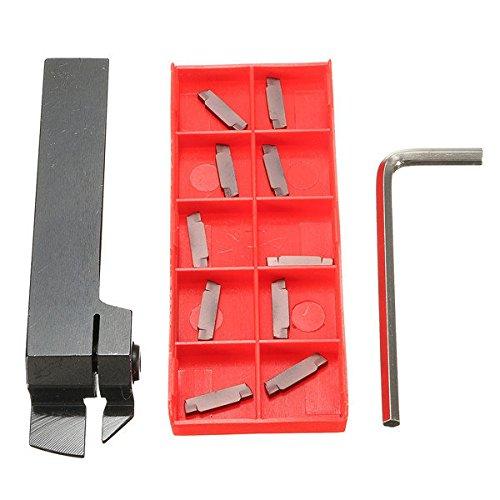 Bargain World MGEHR1616 troncatura tornitura porta utensile con inserti in metallo duro 10pcs mgmn200 strumenti tornio