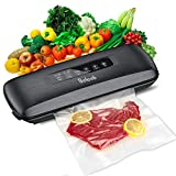 Vacuum Sealer,Beleeb Automatic Vacuum Air Sealing Machine for Food Preservation, Compact Design | Lab Tested | Dry & Moist Food Modes | Led Indicator Lights | 10 Pre-cut Bags