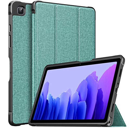 MoKo Case Fits Samsung Galaxy Tab A7 10.4 Inch 2020 Model (SM-T500/505/507), Lightweight Slim PU Tablet Case Shockproof TPU Back Shell Trifold Stand Cover with Auto Wake/Sleep, Green
