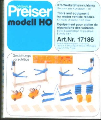 Preiser M 1:87 KFZ-Werkstatteinrichtung [Spielzeug]